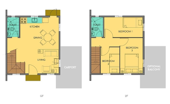 Cara Floor Plan House and Lot in Camella Antipolo