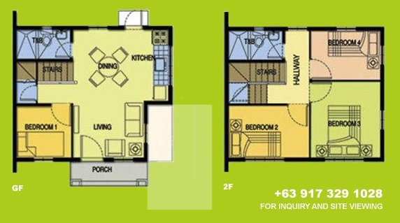 Carina Floor Plan House and Lot in Camella Antipolo