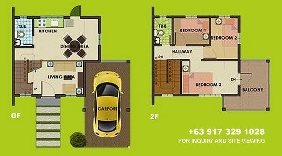 Carmina Downhill Floor Plan House and Lot in Camella Antipolo