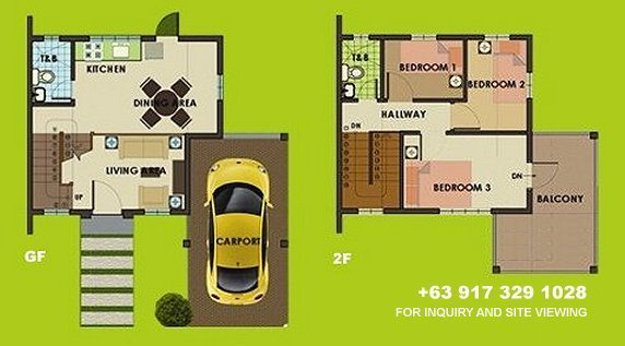 Carmina Uphill Floor Plan House and Lot in Camella Antipolo