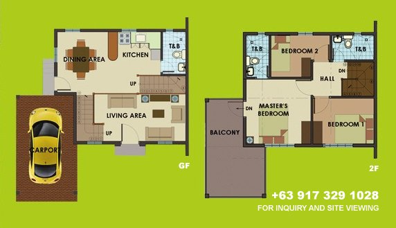 Dorina Uphill Floor Plan House and Lot in Camella Antipolo