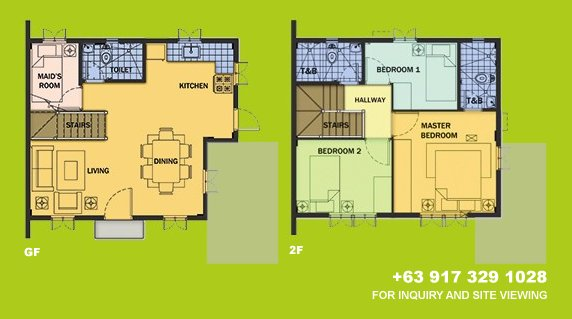 Drina Floor Plan House and Lot in Camella Antipolo
