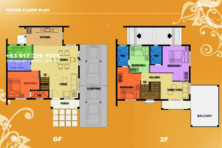 Fatima Floor Plan House and Lot in Camella Antipolo