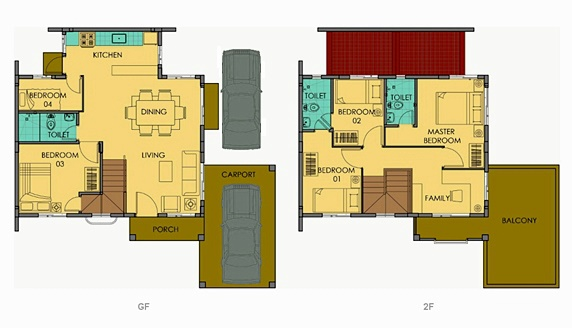 Freya Floor Plan House and Lot in Alabang