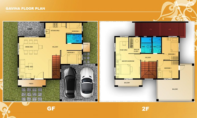 Gavina Floor Plan House and Lot in Camella Antipolo