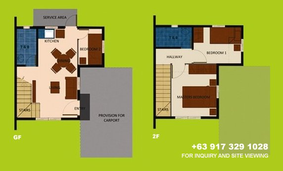 Mara Floor Plan - House and Lot in Camella Antipolo
