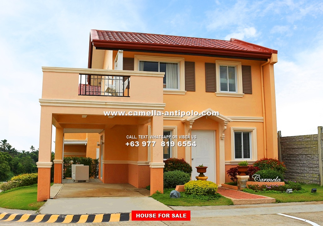 Camella antipolo carmela house and lot for sale in antipolo for House models and plans